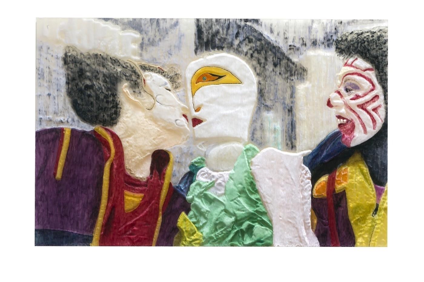 quadri 3d arredo casa Art 09 Quadro Funny Love dipinto a mano