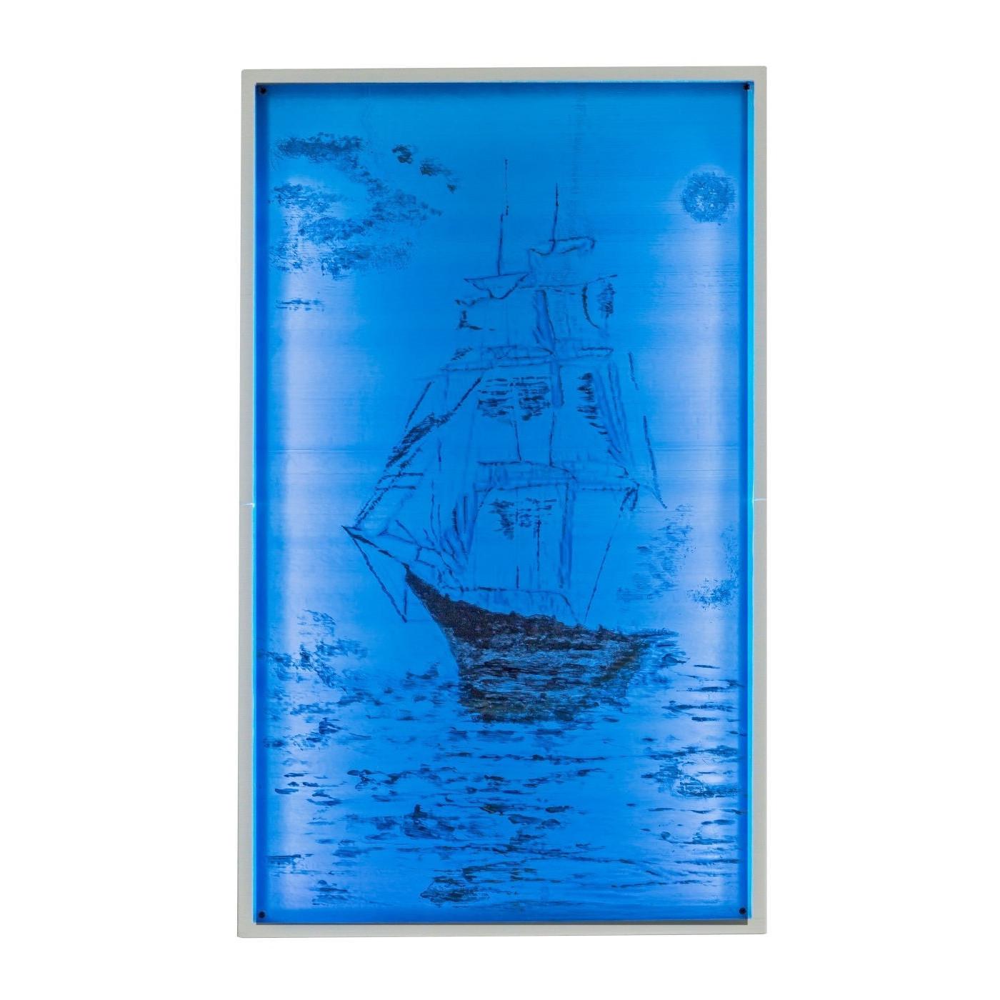 quadri 3d arredo casa Art 06 Quadro Veliero dipinto a mano retroilluminato LG
