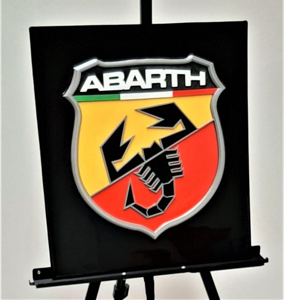 automotive brand crash Abarth logo