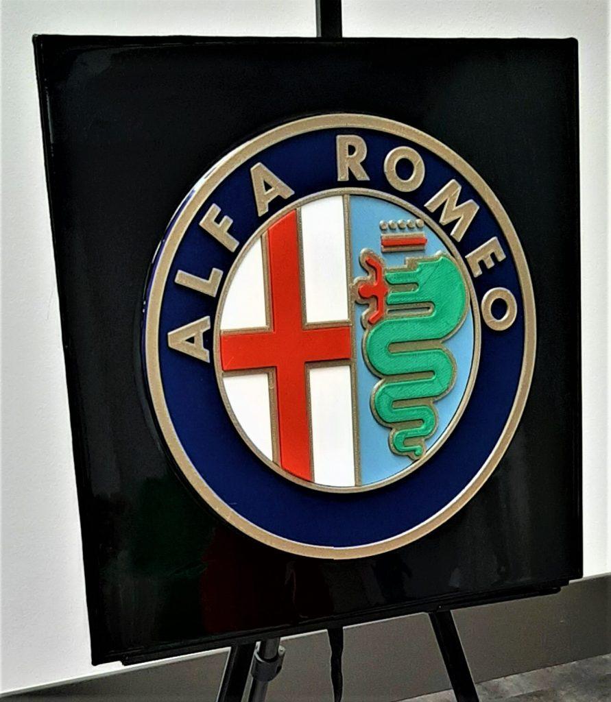 automotive brand crash Alfa Romeo logo
