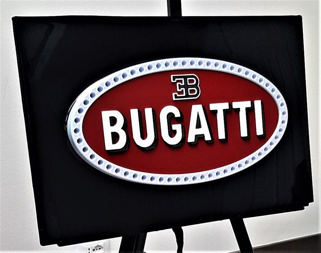 automotive brand crash Bugatti logo