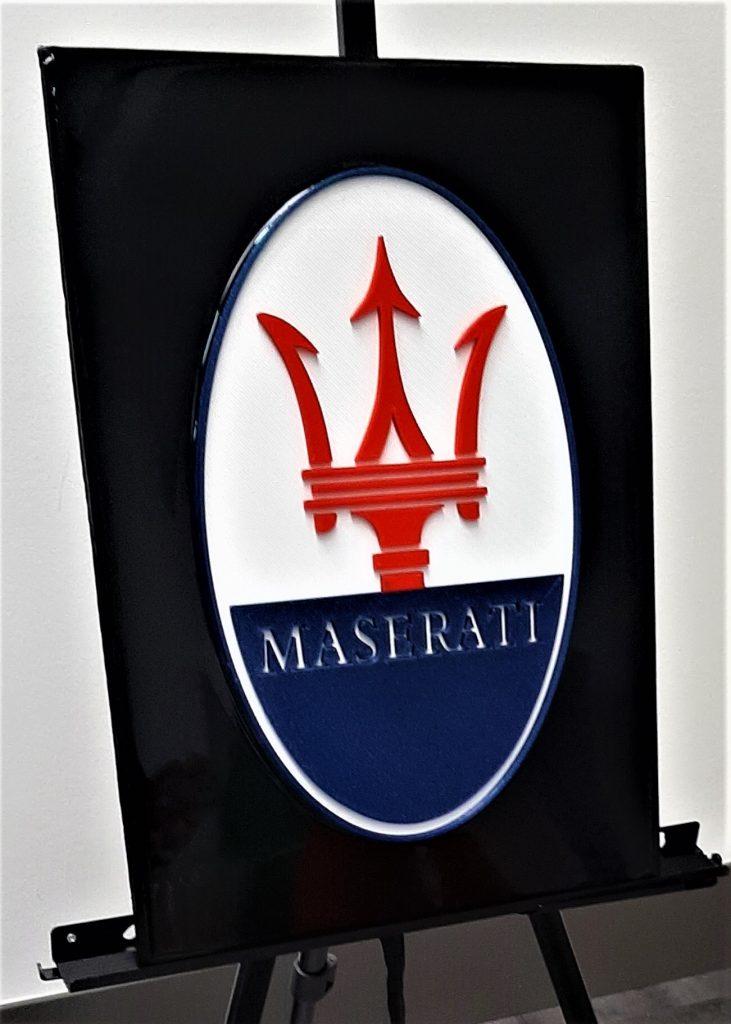 automotive brand crash Maserati logo