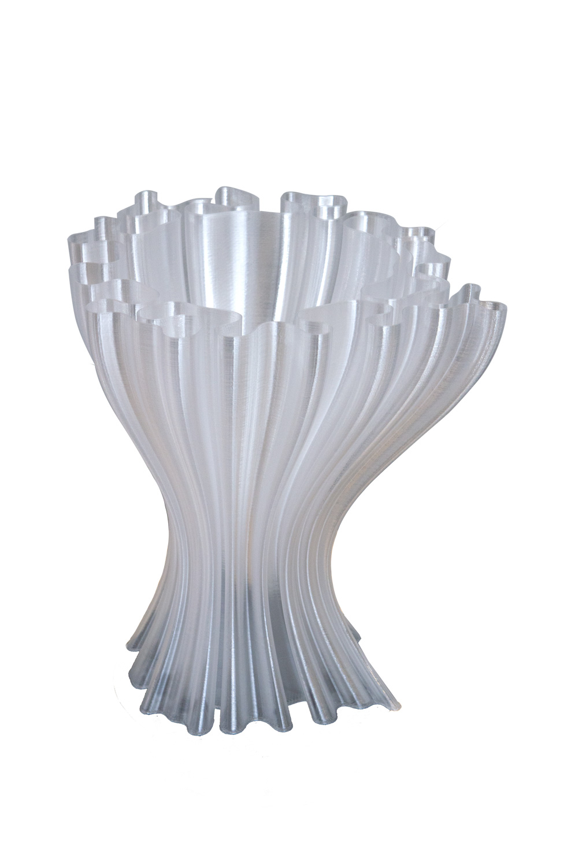 Vasi design made in Italy   Vaso ondulato trasparente