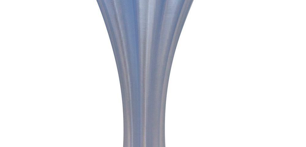 Vasi design made in Italy | Vaso quadrifoglio azzurro trasparente