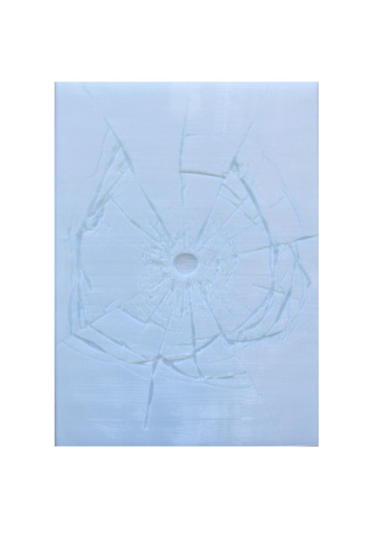 Quadri artistici made in Italy | Quadro vetro rotto trasparente